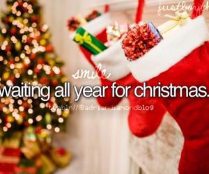 christmas, lights, and stockings image