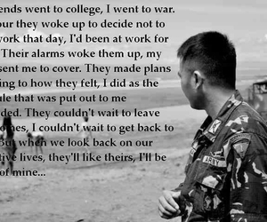 college, friend, and soldier image