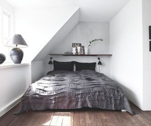attic, bedroom, and bed image