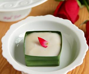 coconut, custard, and dessert image
