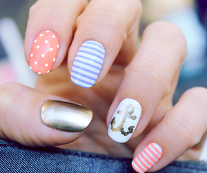nails, ancora, and summer style image