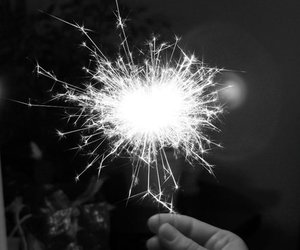 bw and sparkle image