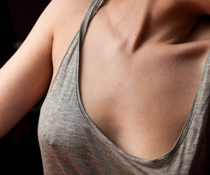 collar bones, photography, and Piercings image