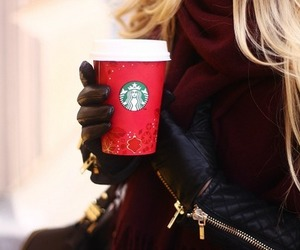 starbucks, coffee, and winter image