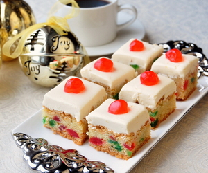 cake, cherry, and christmas image