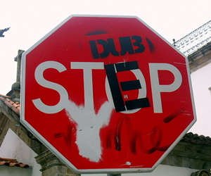 dubstep, sign, and stop image
