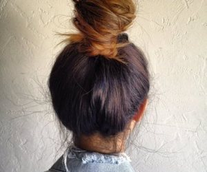 bun, fashion, and hair image