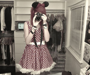 canon, fashion, and mickey mouse image