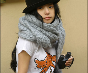 fox, girl, and hat image