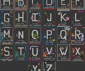 ABC, alphabet, and asteroids image