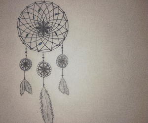drawing, dream catcher, and indie image