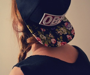 cap, fashionista, and flowers image