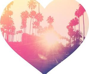 california, heart, and la image