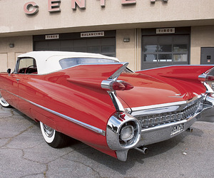 cadillac, classic, and red image