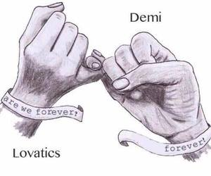 demi lovato, lovatics, and forever image