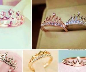 rings, crown, and princess image