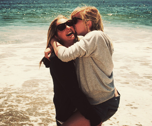 beach, best friends, and cute image