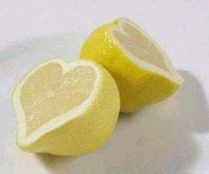 lemon, heart, and yellow image
