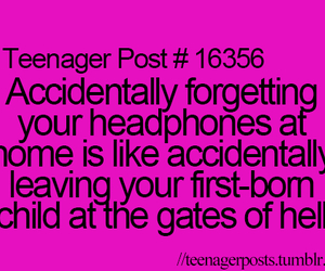 teenager post, funny, and music image