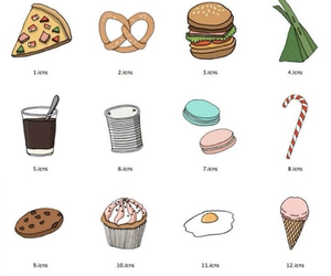 candy, food, and pizza image