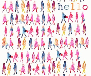 hello, pattern, and illustration image