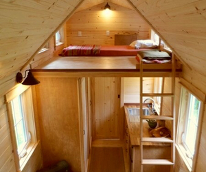 bedroom, cabin, and camping image