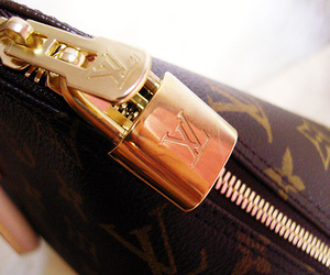 Louis Vuitton, fashion, and gold image