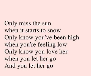 love, let her go, and passenger image