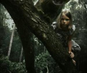 alice, cat, and forest image