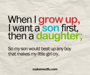 daughter, quote, and son image