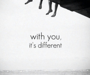 love, different, and with you image