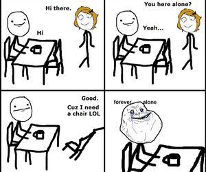 boy, girl, and forever alone image