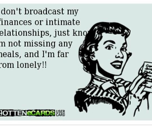 ecards, funny, and lonely image