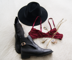 bra, clothes, and burgundy image