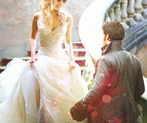 once upon a time, hook, and emma swan image