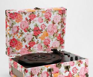 floral, vintage, and record image