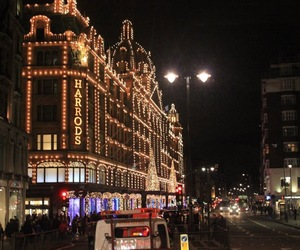 harrods, london, and winter image