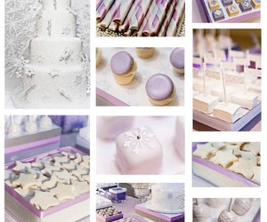 cake, lavender, and snowflake image