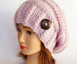 hat, pink, and beanie image