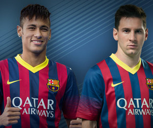 neymar, messi, and Barcelona image