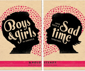 poster, boy, and girl image