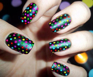 nails, black, and colors image