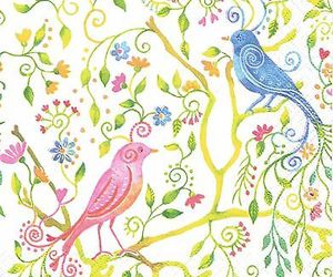 beauty, flowers, and pretty birds image