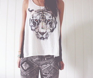 fashion, tiger, and style image