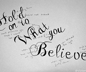 believe, faith, and hold on image