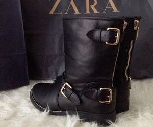 boots, Zara, and black image