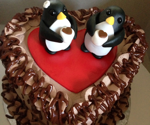 cake, coffee, and penguins image
