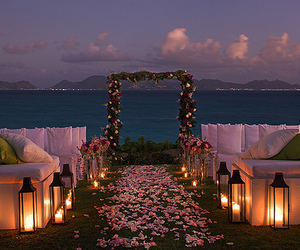 beach, beautiful, and wedding image