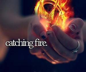 catching fire, movie, and book image