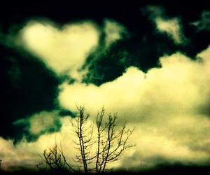 heart, love clouds, and holga image